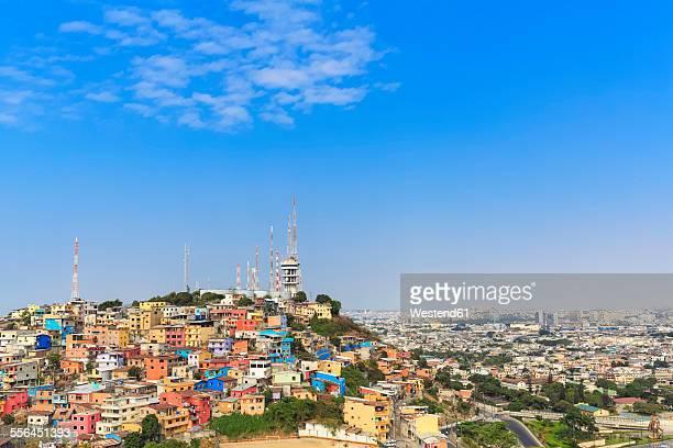 South America, Ecuador, Guayas Province, Guayaquil, Las Penas, Cerro Santa Ana, City view