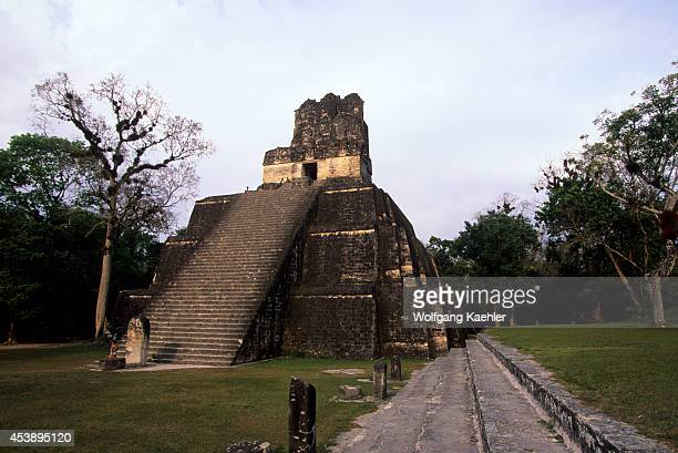South America Guatemala Tikal Great Plaza Temple Of The Masks