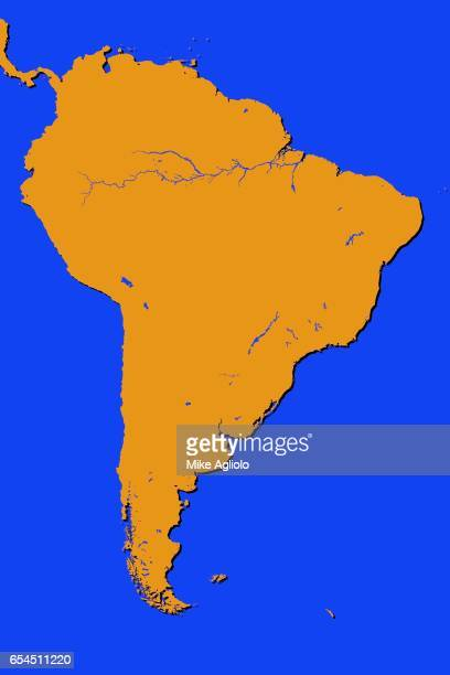 south america map - mike agliolo stock pictures, royalty-free photos & images