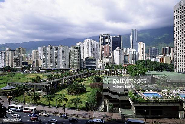 south america, venzuela, carcas, financial district - カラカス ストックフォトと画像