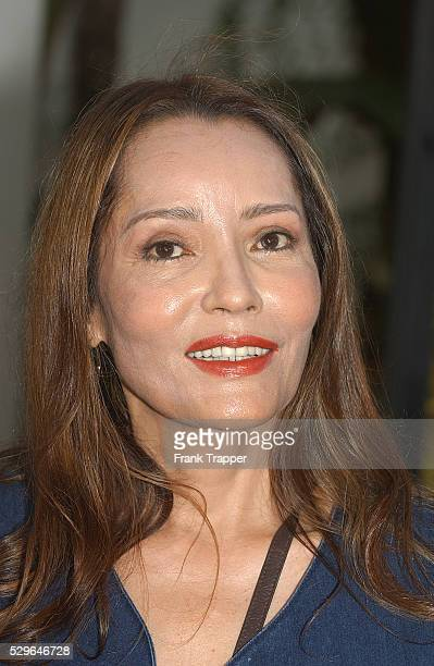 South American actress Barbara Carrera arrives at the world premiere of The Bourne Supremacy hosted by Universal Pictures in LA