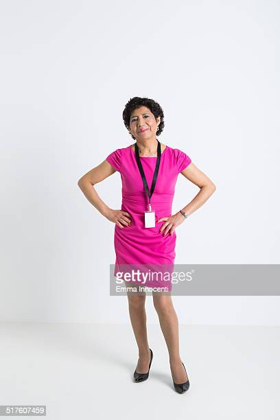 south american business woman with hands on hips