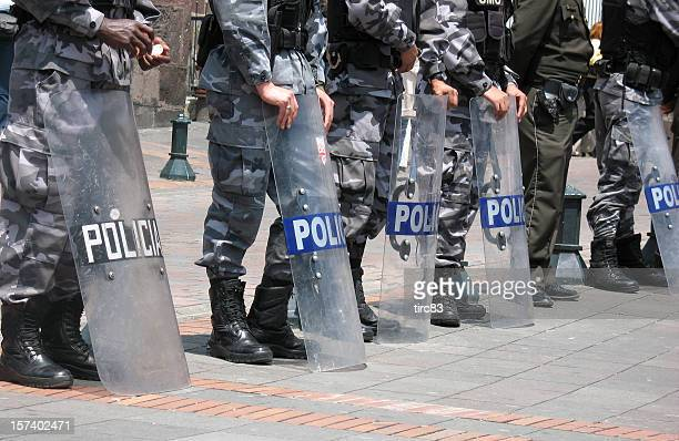 south american riot police - riot shield stock pictures, royalty-free photos & images