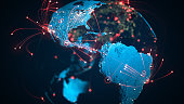 South And North America - Flight Routes, Global Connections, Coronavirus - Focus On USA and Brazil