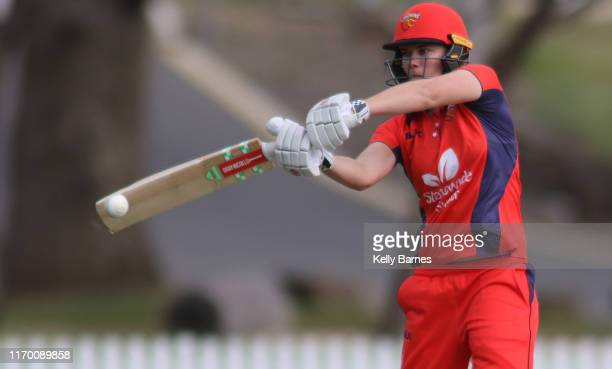 South Australias Tahlia McGrath batting during the WNCL match between Victoria and the ACT at Park 25 on September 22 2019 in Adelaide Australia