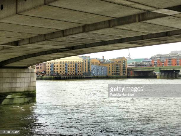 South bank of the Thames seen from under London Bridge