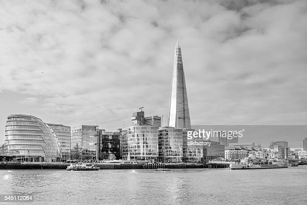 South Bank with the Shard in London, UK