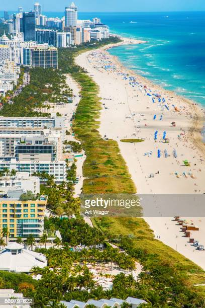 south beach aerial - vertical stock pictures, royalty-free photos & images