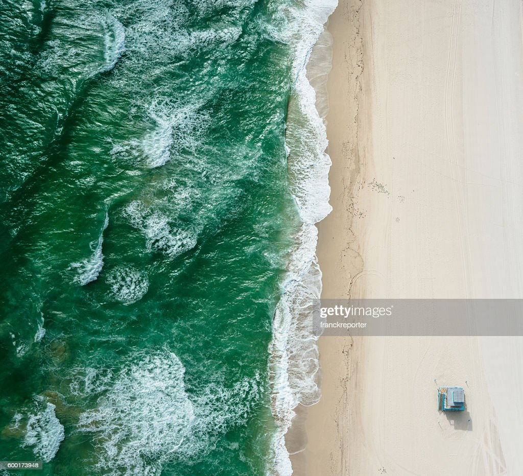 south beach from the air - miami : Stock Photo