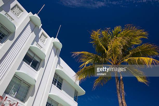 south beach - art deco stock pictures, royalty-free photos & images