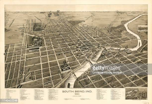 South Bend Indiana Drawn and Published by CJ Pauli 1890