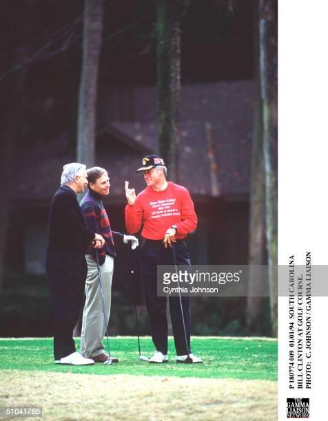 South Carolina Bill Clinton At Golf Course.