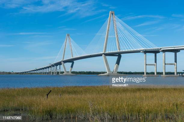 USA, South Carolina, Charleston, Arthur Ravenel Bridge, Cooper river