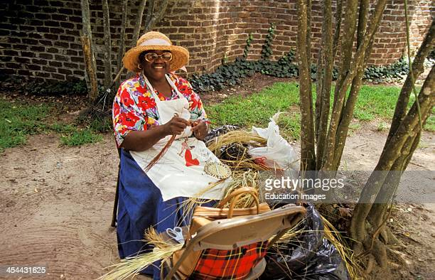 South Carolina Charleston Boone Hall Plantation Basket Weaver