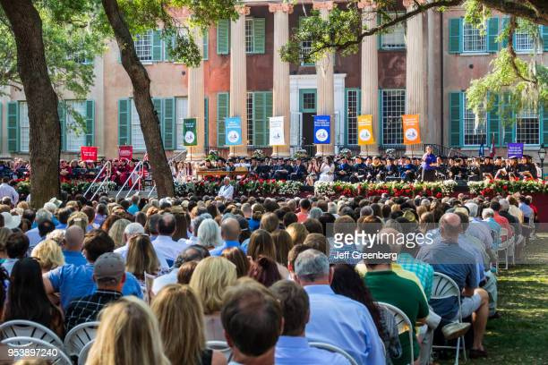 South Carolina Charleston College of Charleston Cistern Yard crowded graduation ceremony