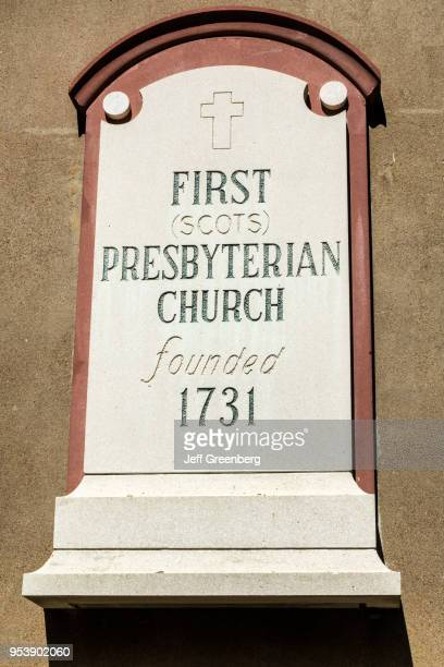 South Carolina Charleston Historic Downtown First Scots Presbyterian Church founded in 1731