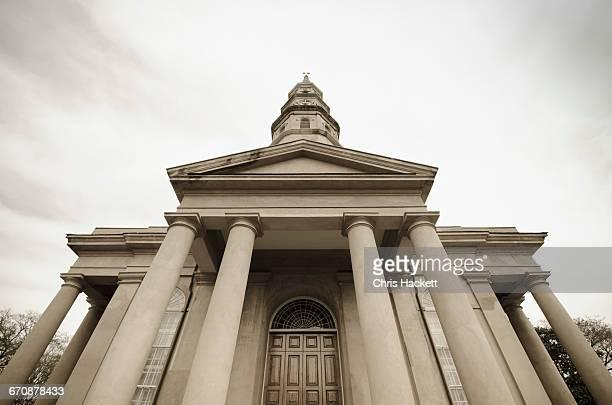South Carolina, Charleston, Low angle view of church