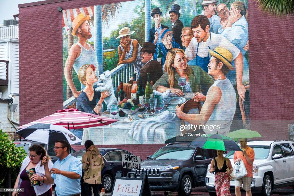South Carolina, Charleston, Mira Winery Napa Valley Education Center and Tasting Room, mural