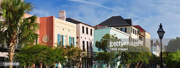 USA, South Carolina, Charleston, Rainbow Row