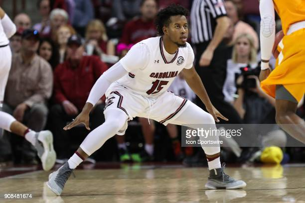 South Carolina Gamecocks guard Wesley Myers during the SEC matchup on January 20 2018 between Tennessee and South Carolina at Colonial Life Arena in...