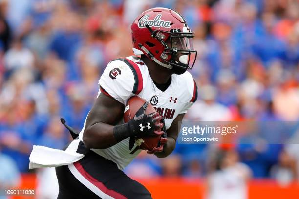 South Carolina Gamecocks wide receiver Deebo Samuel runs with the ball during the game between the South Carolina Gamecocks and the Florida Gators on...