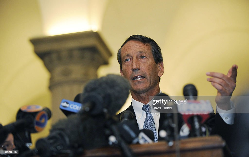 South Carolina Gov. Mark Sanford Returns To Capitol After Unexplained Trip : News Photo