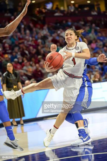 South Carolina guard Bianca Cuevas Moore during 2nd half action in the SEC Women's Championship semi final game between the South Carolina Gamecocks...