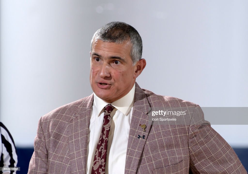South Carolina Head Coach Frank Martin looks on during a college basketball game between the University of South Carolina Gamecocks and the Florida International University Panthers on November 27, 2017 at the Ocean Bank Convocation Center, Miami, Florida. South Carolina defeated FIU