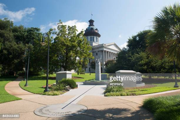 South Carolina Law Enforcement Officers Memorial with South Carolina State House