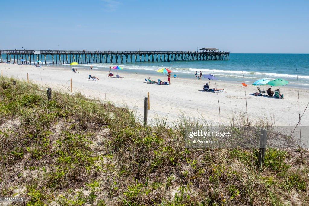 South Carolina Myrtle Beach Atlantic Ocean State Park Sunbathers And