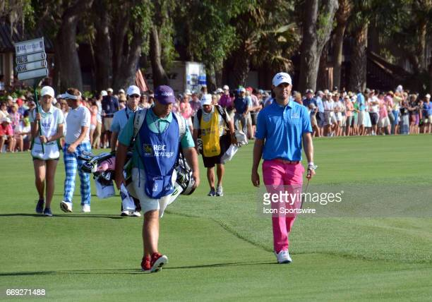 South Carolina Native Wesley Bryan winner of the 49th Heritage during the final round of the RBC Heritage Presented by Boeing Golf Tournament on...