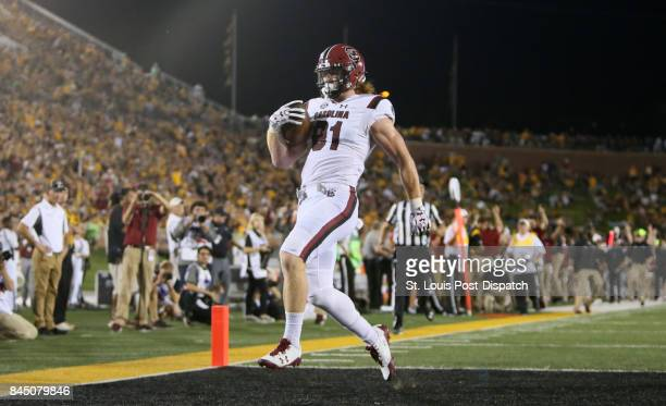 South Carolina tight end Hayden Hurst scores on a 39yard touchdown reception in the third quarter against Missouri on Saturday Sept 9 at Memorial...