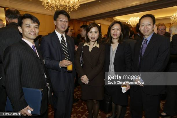 South China Morning Post Fund Manager of the Year Awards 2003 Self Li head of mutual funds sales of Baring Asset Management Ltd Norman Chan director...