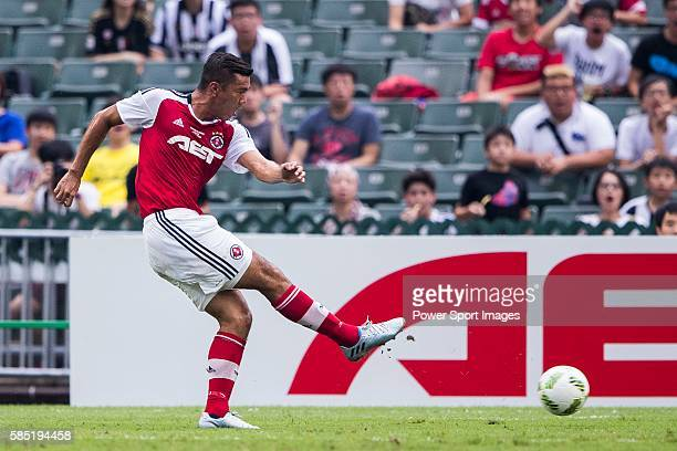 South China's player Chan Siu Ki scores the first score during the South China vs Juventus match of the AET International Challenge Cup on 30 July...