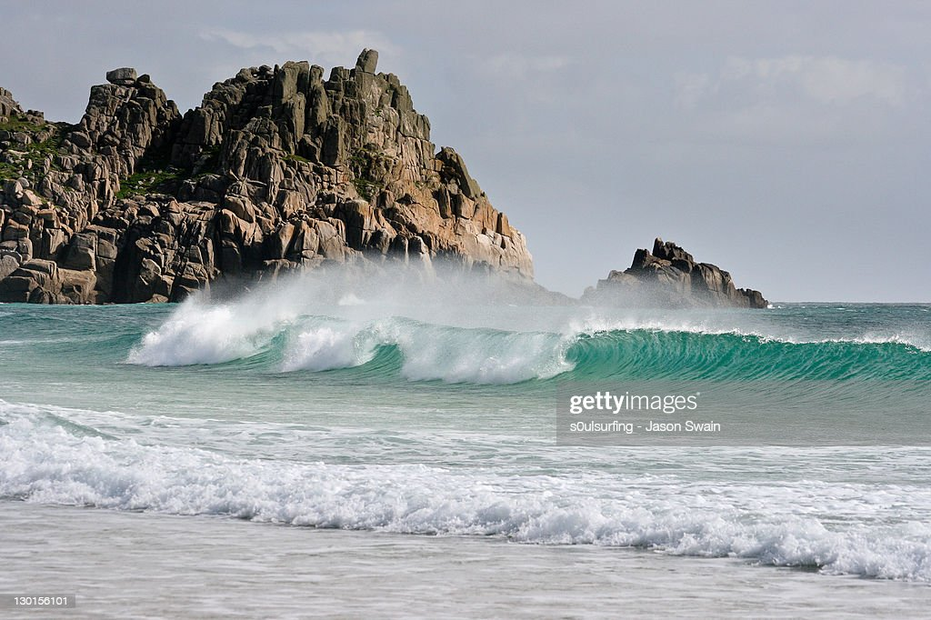 South coast of Cornwall. : Stock Photo