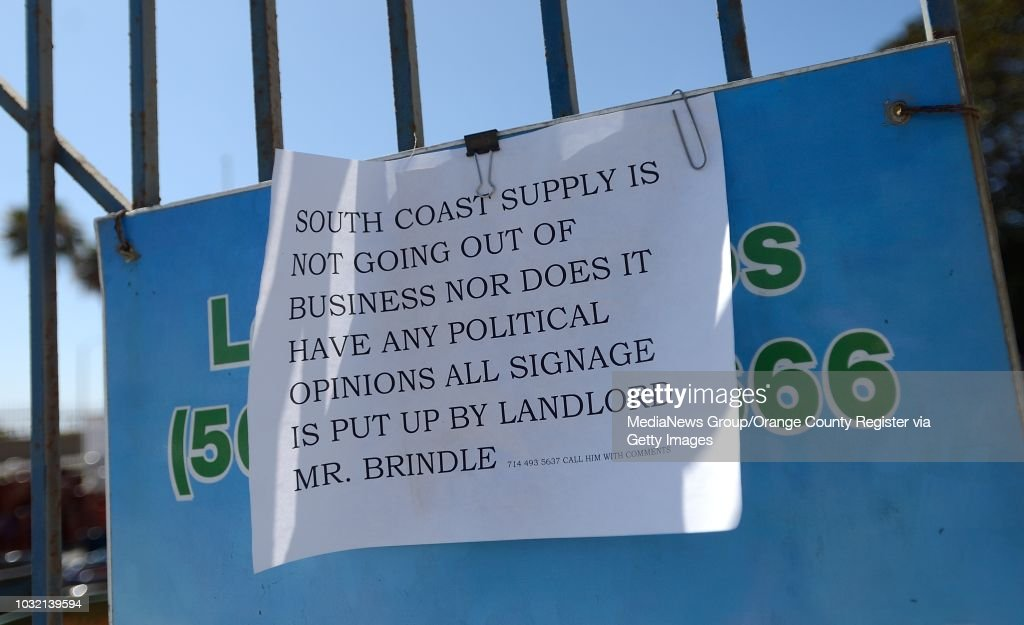 Orange County Register Archive : News Photo - South Coast Supply, A Landscape Supply Company That Rents Space From