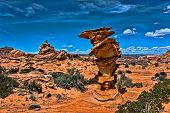 sandstone erosive formations wild landscape