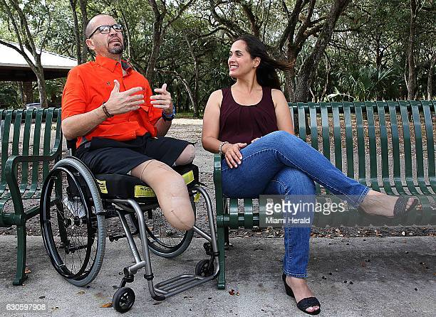 South Dade Principal Javier Perez and his wife Maytee Perez talk about their life and challenges ahead at Hammock Park on Dec 5 2016 in Kendall Fla