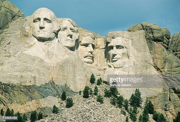 usa, south dakota, black hills, mt. rushmore national monument, close-up - us president stock pictures, royalty-free photos & images