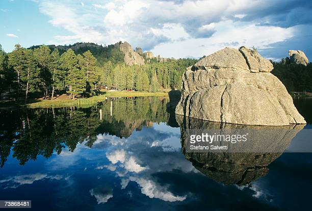 usa, south dakota, black hills, sylvan lake - black hills stock photos and pictures