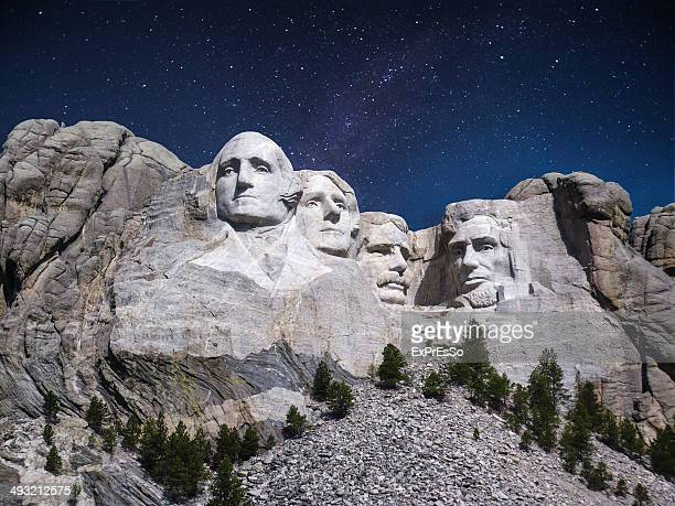 USA, South Dakota, Mount Rushmore, View of Mt Rush