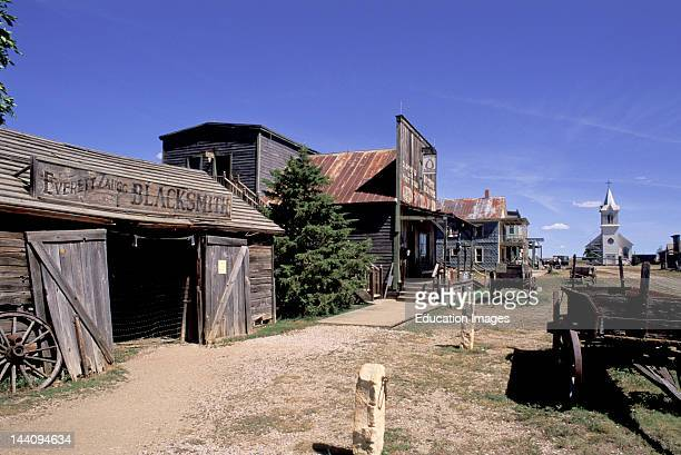 South Dakota Murdo Ghost Town 1880S Main Street Used As A Movie Set