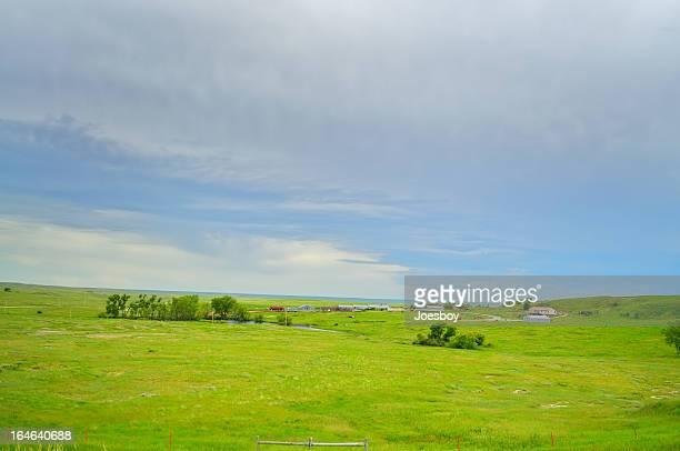 South Dakota Ranch At Dusk