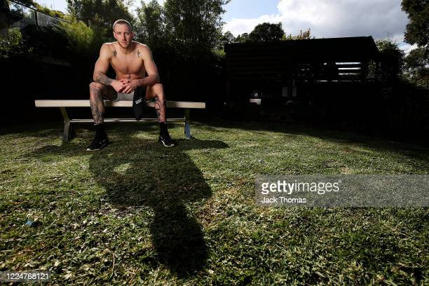 South East Melbourne Phoenix player Mitchell Creek poses for a portrait after training in isolation at home due to the coronavirus lockdown on May...