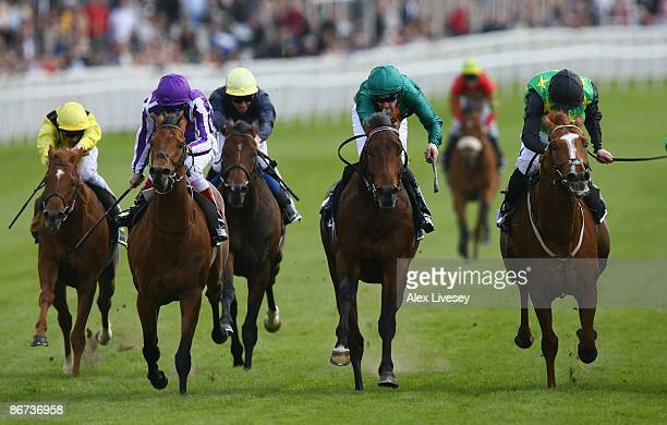 South Easter ridden by Neil Callan beats Deposer ridden by Robert Winston to win the Addleshaw Goddard Dee Stakes at Chester Racecourse on May 8 2009...