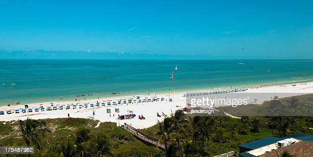 south florida beach view - marco island stock pictures, royalty-free photos & images