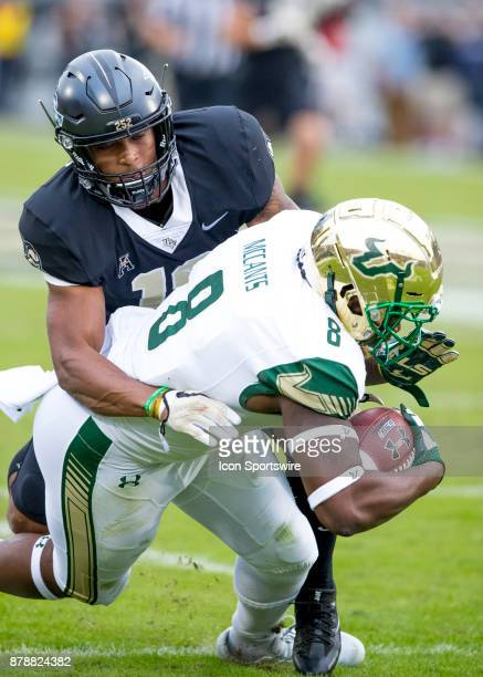 South Florida Bulls wide receiver Tyre McCants gets a first down for South Florida Bulls during the football game between the UCF Knights and USF...