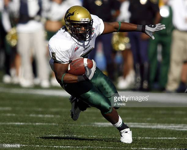 South Florida running back Ricky Ponton looks for some yards during Saturday's PapaJohnscom Bowl against East Carolina at Legion Field in Birmingham...