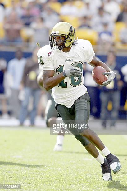 South Florida's Amarri Jackson in action against the Pittsburgh Panthers at Heinz Field in Pittsburgh Pennsylvania on October 15 2005