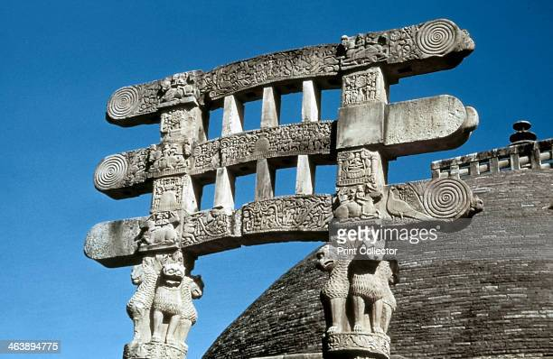 South gate architraves of the Great Stupa Sanchi India 7550 BC Photograph